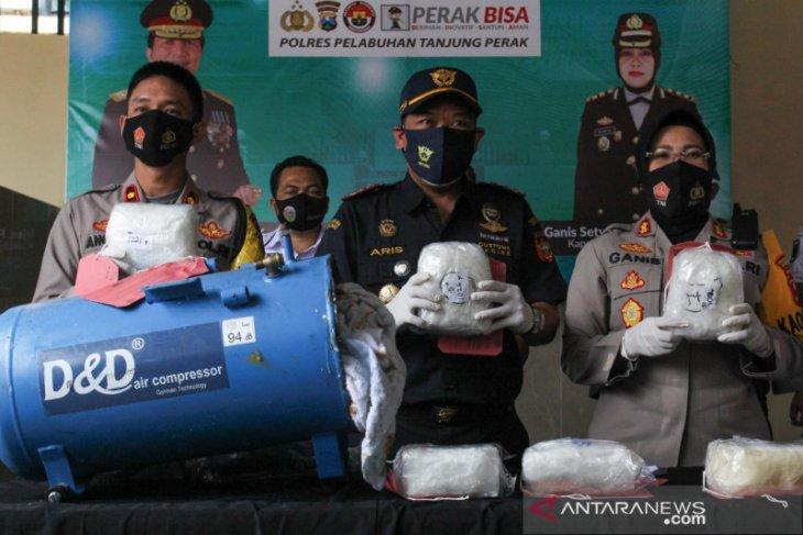 Polisi Surabaya gagalkan penyelundupan 7,2 kilogram sabu-sabu asal Malaysia