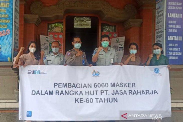 Jasa Raharja Bali bagikan 6.060 masker
