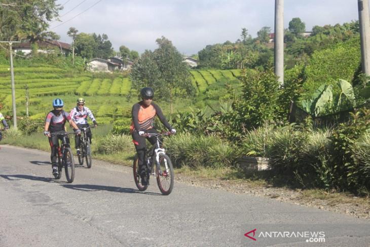 Kapolda Jambi gelar patroli sepeda kamtibmas di Kerinci