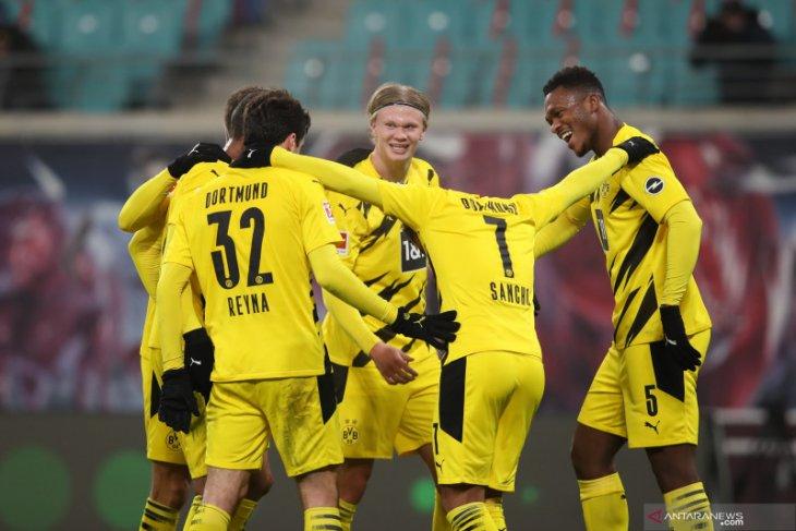Liga Jerman: Dua gol Haaland bantu Dortmund atasi Leipzig 3-1