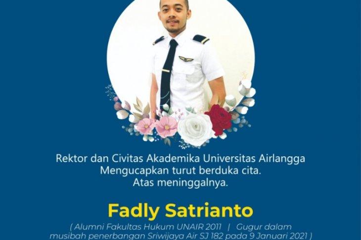 Seorang kru Sriwijaya Air SJ-182 alumnus Unair, rektor sampaikan duka cita