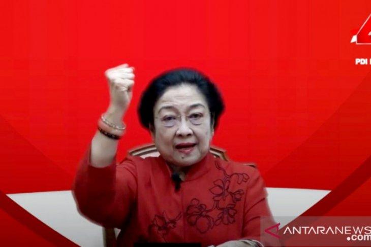 Megawati awali pidato politik HUT PDIP dengan sampaikan belasungkawa