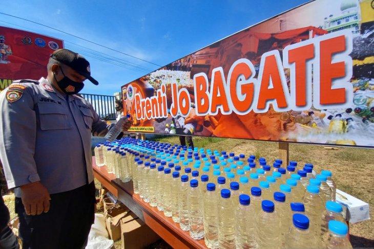 Polres Gorontalo Utara musnahkan 2,8 ton minuman keras 'captikus'