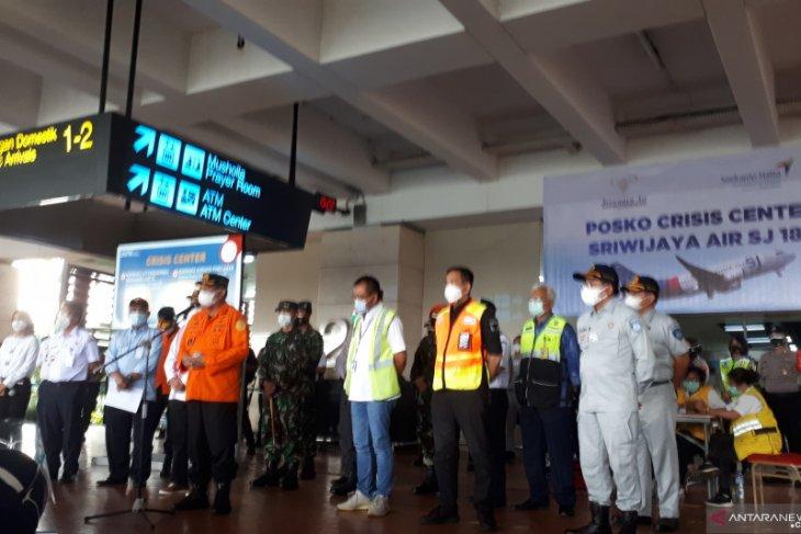 Basarnas temukan 10 kantong potongan tubuh penumpang dan pesawat Sriwijaya Air