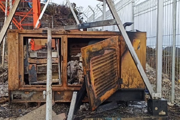 BTS Palapa Ring Timut dibakar, layanan 4G Telkomsel di Puncak terganggu