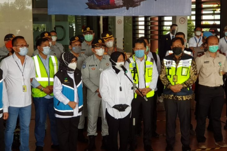 Dirut Jasa Raharja dampingi Mensos sambangi Posko Crisis Center Sriwijaya Air