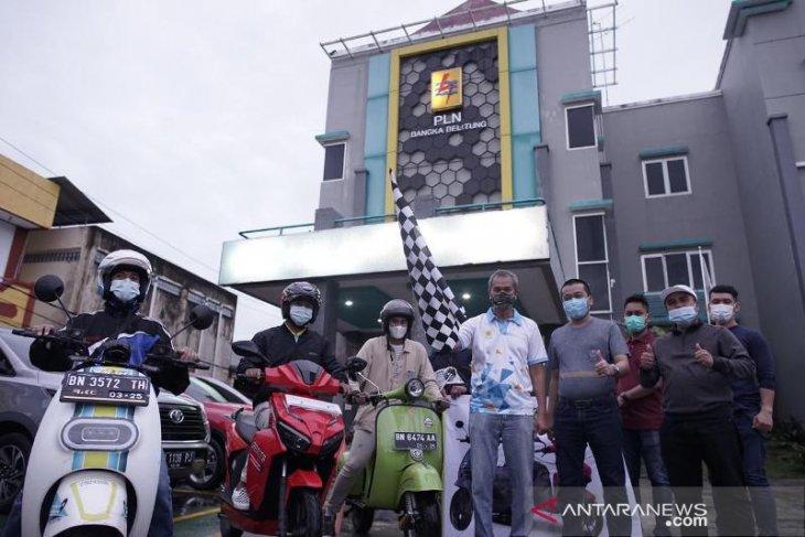 Tempuh Jarak 280 KM, PLN Babel Touring Motor Listrik Mentok-Toboali
