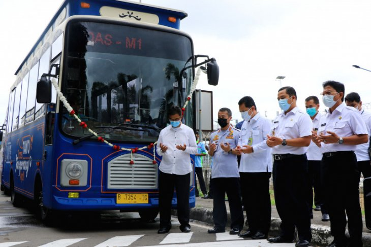 BRT koridor 4 rute M1 Bandara - Cadas diluncurkan