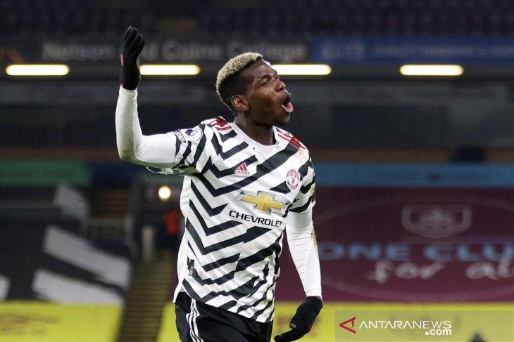 Manchester United naik ke puncak Liga Inggris, Pogba mengaku senang