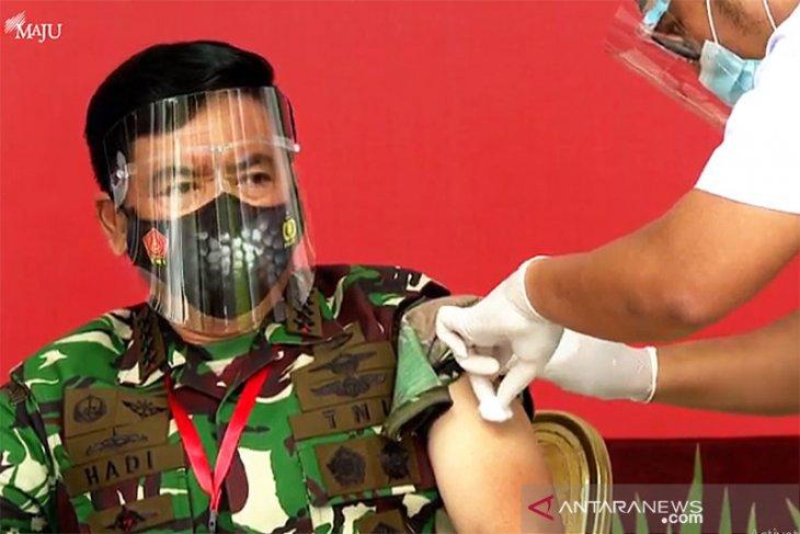 Panglima tegaskan seluruh prajurit TNI akan mengikuti dan sukseskan vaksinasi COVID-19