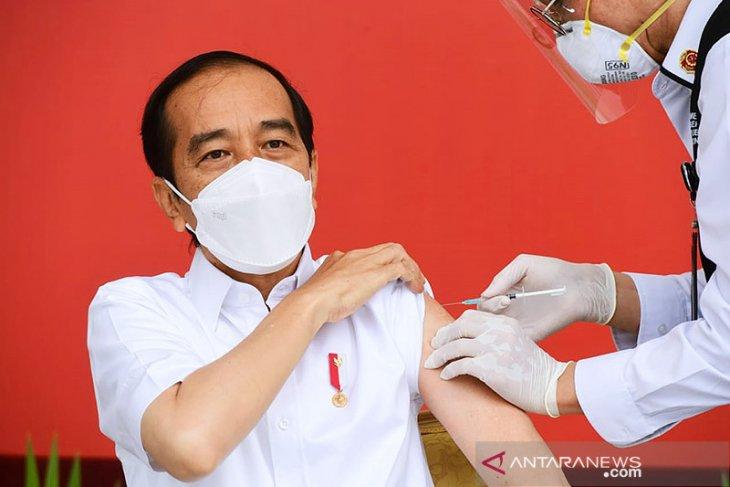 Hoaks, Moeldoko sebut Jokowi pakai vaksin berbeda