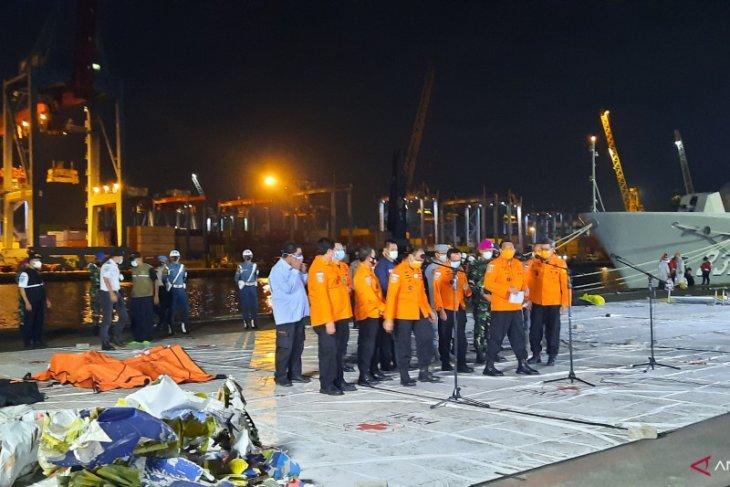 Operasi SAR kumpulkan 239 kantong jenazah korban Sriwijaya Air SJ-182