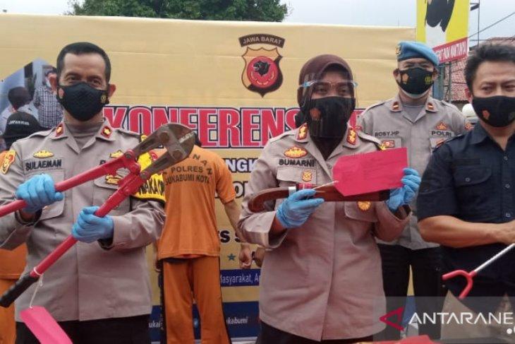 Polres Sukabumi Kota mengungkap sindikat pencurian mobil