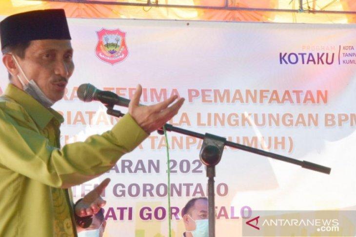 Bupati Gorontalo resmikan infrastruktur Program