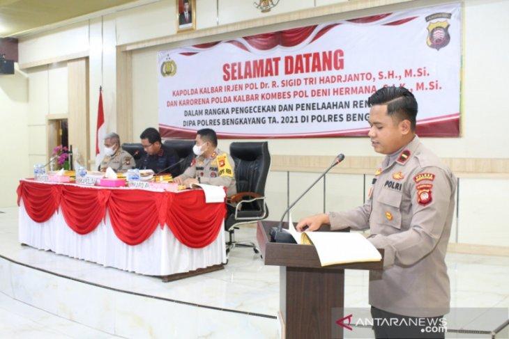 Kapolda Kalbar hadir di Polres Bengkayang tekankan penggunaan Anggaran 2021