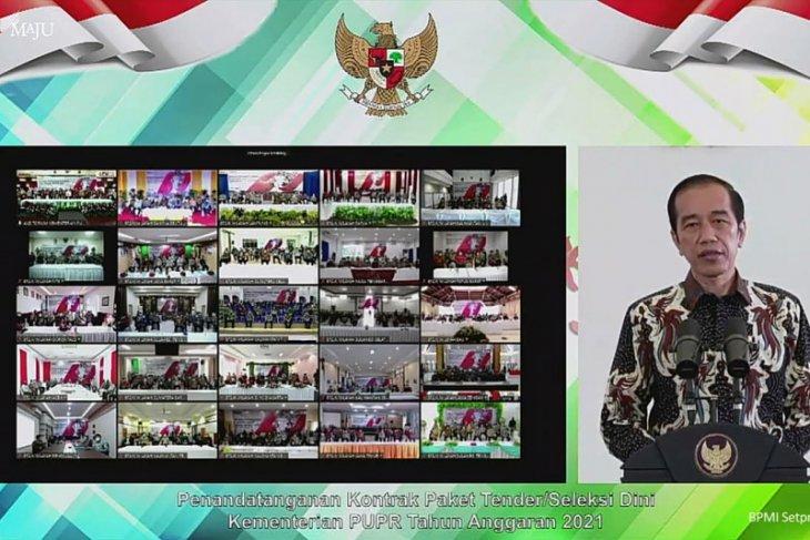 Presiden Jokowi apresiasi percepatan tender proyek konstruksi Rp14,6 triliun