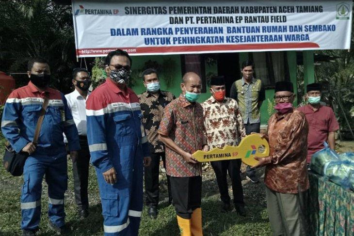 Pertamina bangun rumah duafa di Aceh Tamiang