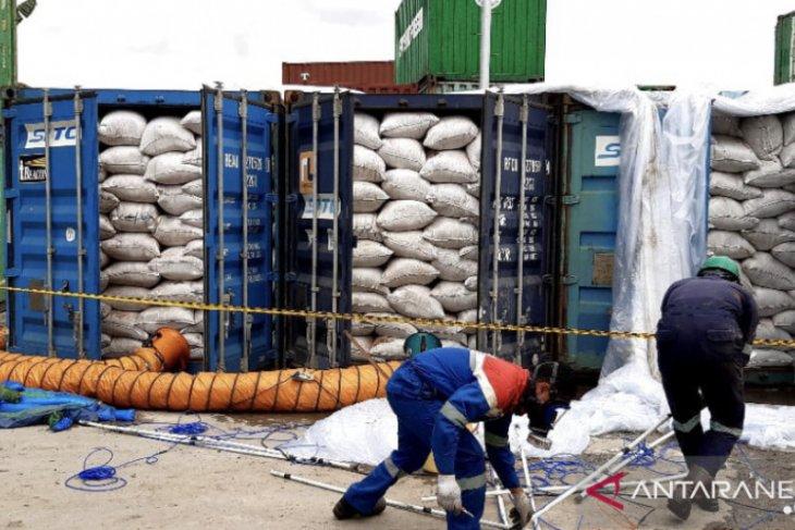 257,67 ton bungkil sawit asal Kaltim siap diekspor ke China