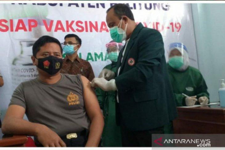 Kapolres Belitung-Dandim 0414 berhasil disuntik vaksin COVID-19 tanpa efek samping