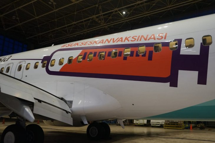 Garuda Indonesia luncurkan desaian livery khusus dukung vaksinasi