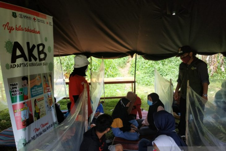 PMI Sukabumi simulasi penanggulangan gempa saat pandemi COVID-19