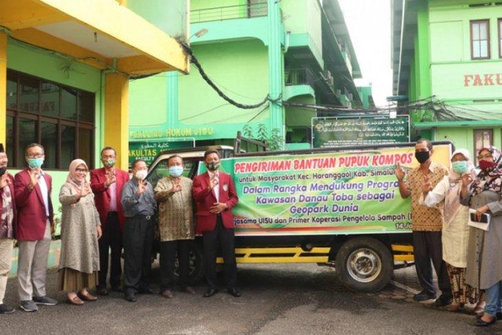 UISU bantu petani di kawasan Danau Toba 1 ton pupuk
