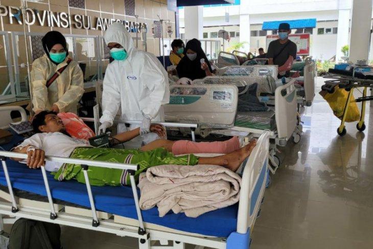 84 orang meninggal akibat gempa magnitudo 6,2 di Sulbar