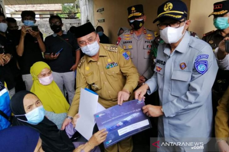 Jasa Raharja Babel Serahkan Santunan Korban Sriwijaya Air Sj-182