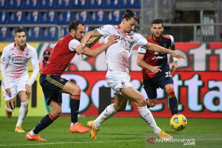 Milan memelihara keunggulan tiga poin atas rival terdekatnya Inter Milan