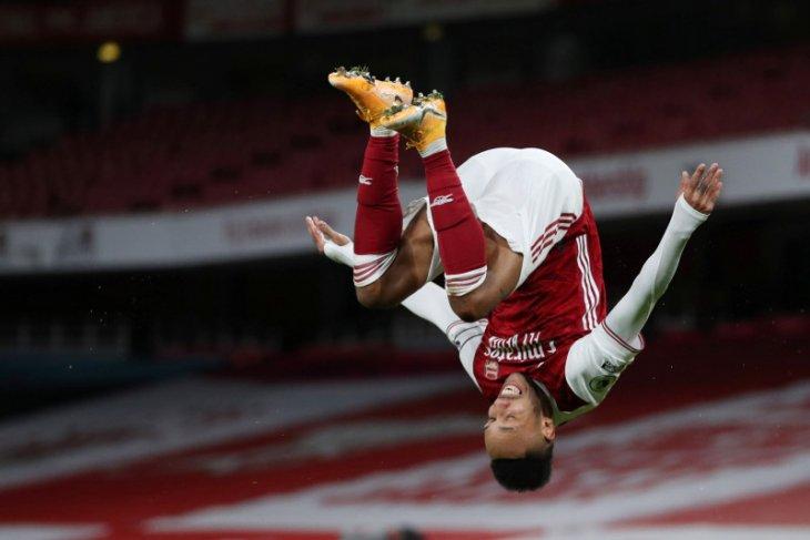 Dua gol Aubameyang bawa Arsenal tundukkan Newcastle