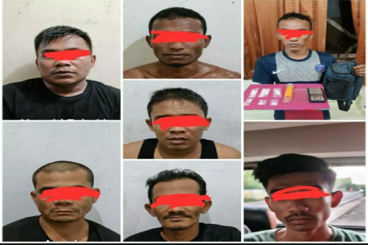 Polisi tangkap tujuh pengedar narkoba, seorang residivis