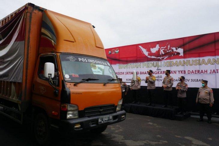 Polda Jatim kirim bantuan untuk korban banjir Kalsel dan gempa Sulbar