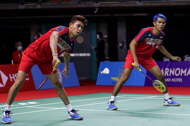Ganda Fajar/Rian akui tertekan kalah di babak pertama Thailand Open II