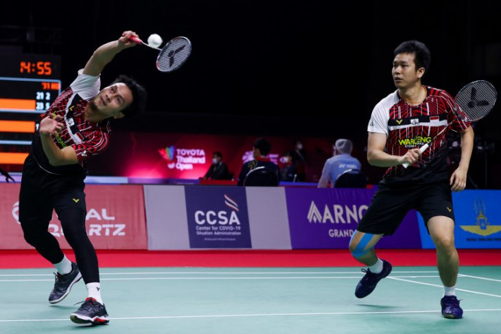 Hendra/Ahsan lolos semifinal Thailand Open usai singkirkan ganda Inggris