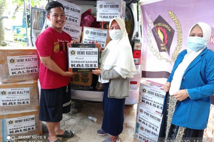 PWI Kaltim salurkan bantuan bagi korban banjir di Kalsel