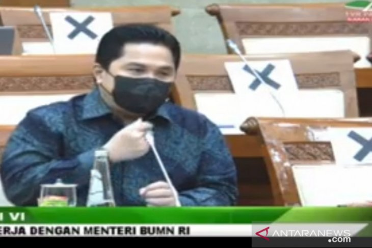 Erick: realisasi anggaran Kementerian BUMN tahun 2020 capai 97,74 persen