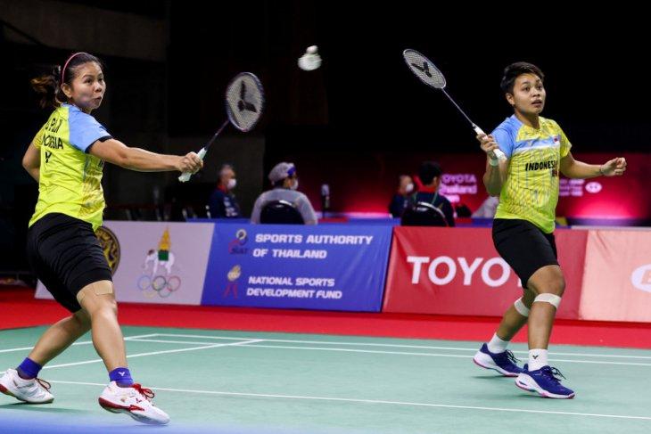 Greysia/Apriyani hadapi ganda Denmark di perempat final Thailand Open II
