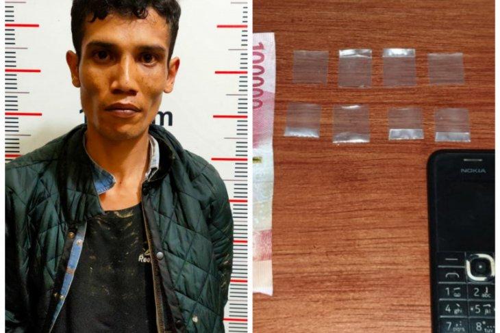 Polsek Pangkalan Susu Langkat tangkap pemilik lima paket sabu-sabu