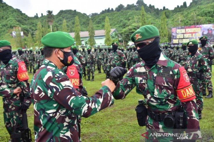 Pangdam VI/Mulawarman lepas prajurit  Satgas Pamtas RI-PNG