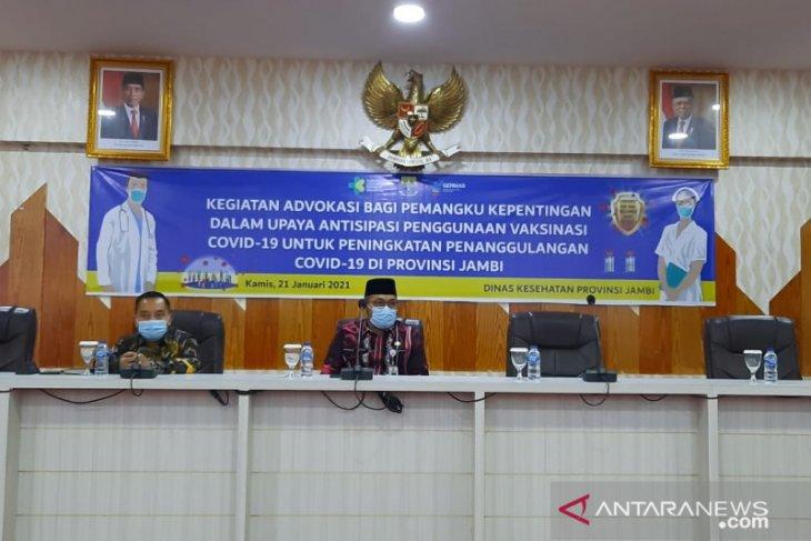 Penyuntikan  vaksin kedua di Jambi digelar 28 Januari