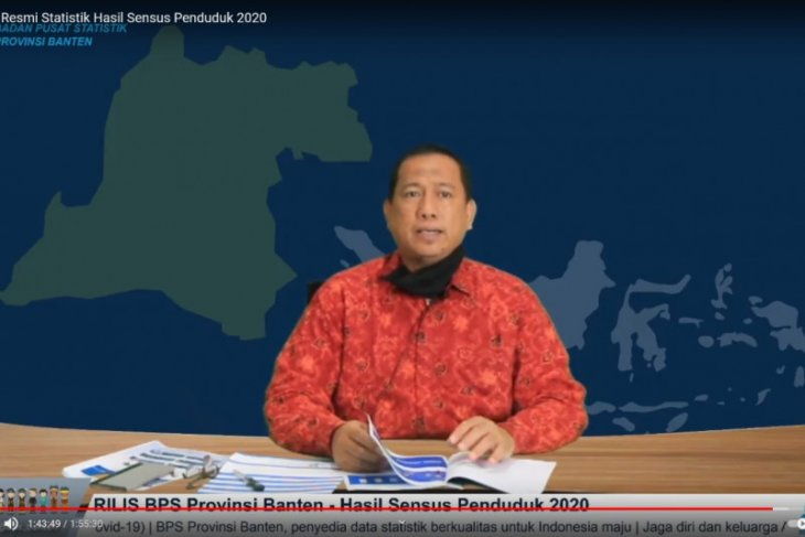 Hasil Sensus Penduduk 2020, Penduduk Banten 11,90 juta jiwa