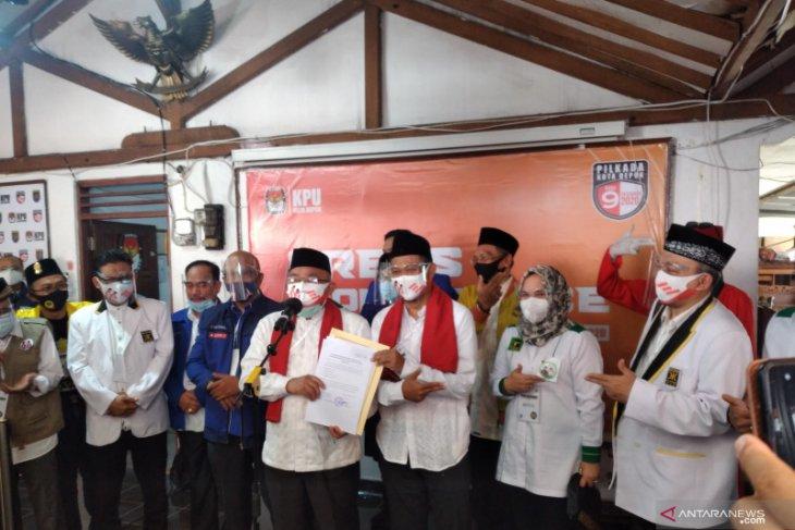 KPU Depok resmi tetapkan Idris-Imam sebagai Wali Kota-Wawali terpilih