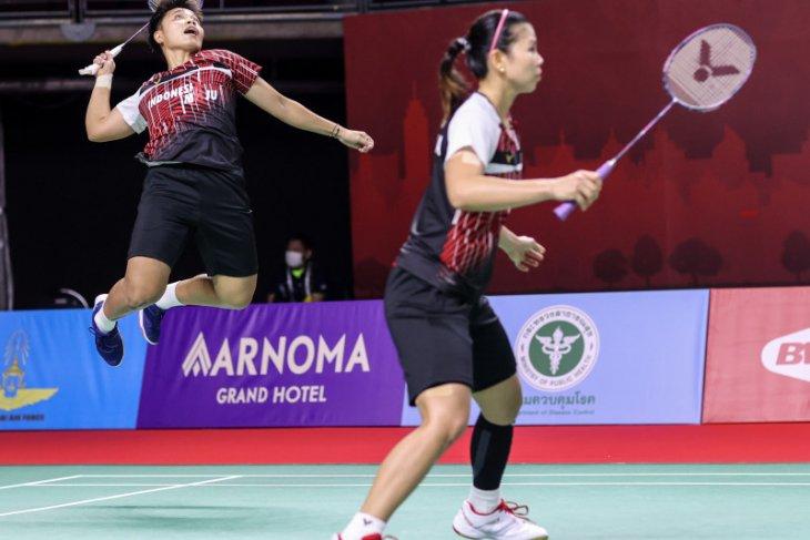 Greysia/Apriyani depak ganda Denmark untuk lolos semifinal Thailand Open II