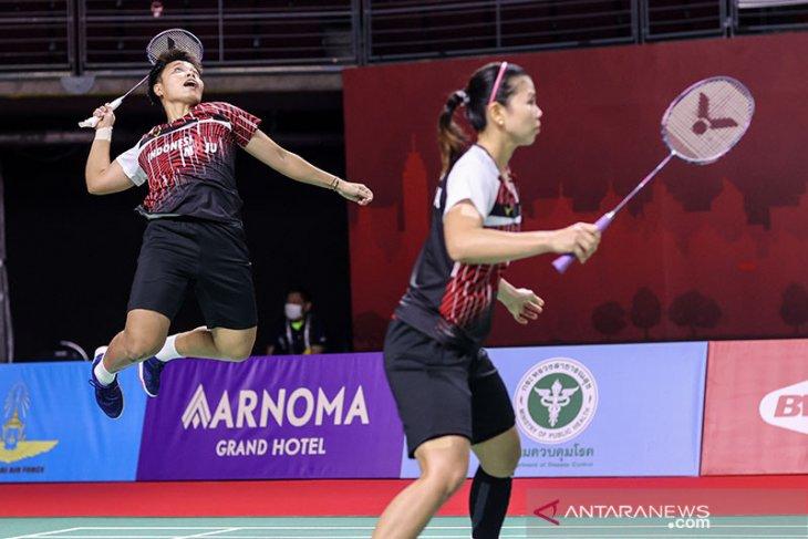 Greysia Polii/Apriyani dijegal unggulan ketiga di semifinal Thailand Open II