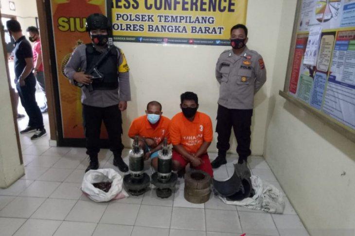 Polisi Bangka Barat ringkus dua pencuri di perkebunan sawit