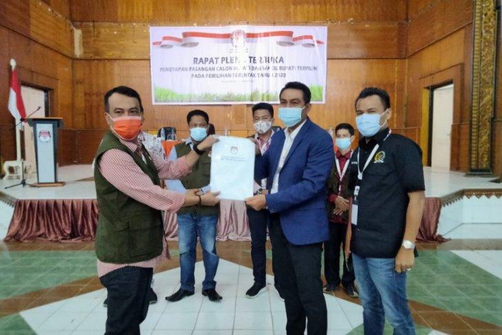 KPUD empat kabupaten di Jambi tetapan calon bupati terpilih
