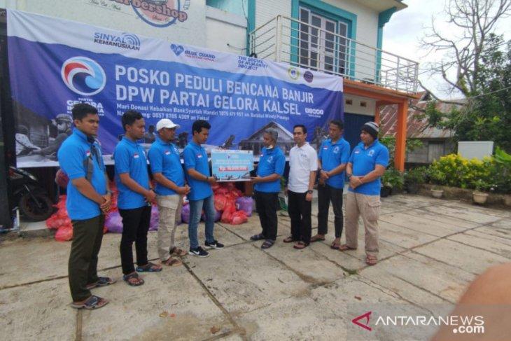 Partai Gelora bantu korban banjir di Kalsel