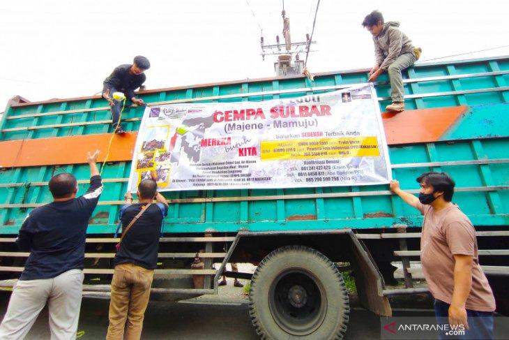 Jurnalis Peduli berangkatkan ratusan paket bantuan ke Sulawesi Barat