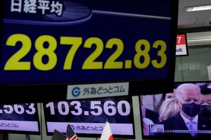 Pasar Asia dibuka beragam setelah Wall Street berada dipuncaknya