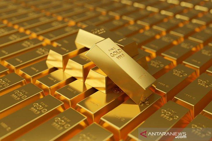 Harga emas melonjak 21,8 dolar, tembus di atas 1.800 dolar